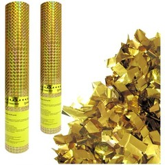 Пневмохлопушка Золотое конфетти, 30см