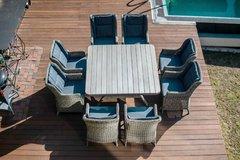 Обеденный комплект мебели  Неаполь из искусственного ротанга