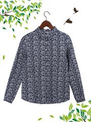 21036 рубашка женская, темно-синяя