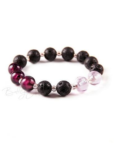 Браслет Murano Flex розово-фиолетовый с черным
