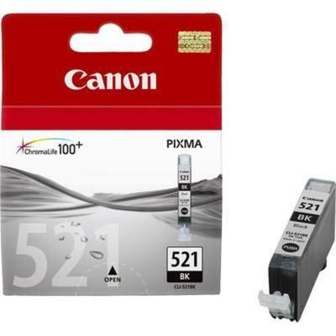 Картридж струйный Canon CLI-521Bk black - черная чернильница 2933b004