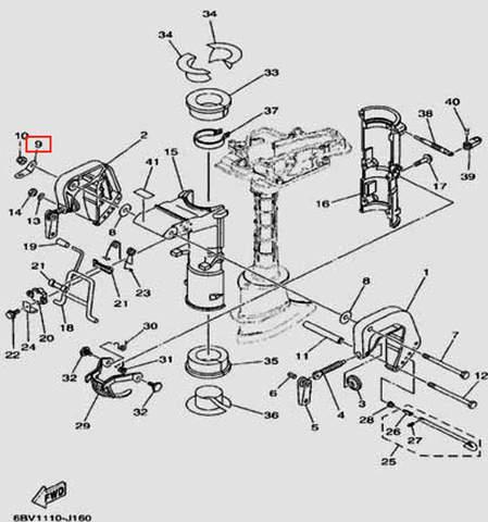 Шайба для лодочного мотора F5 Sea-PRO(16-9)