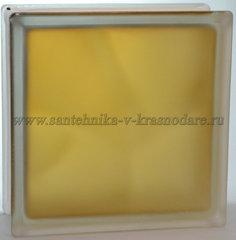 Стеклоблок матовый коричневый Vitrablok 19x19x8 окрашенный изнутри