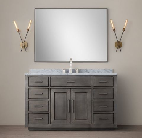 La Salle Metal-Wrapped Single Extra-Wide Vanity