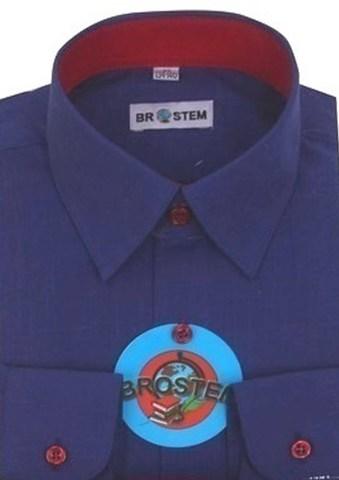 BROSTEM Рубашка для мальчика школьная 8052d фиолетовый