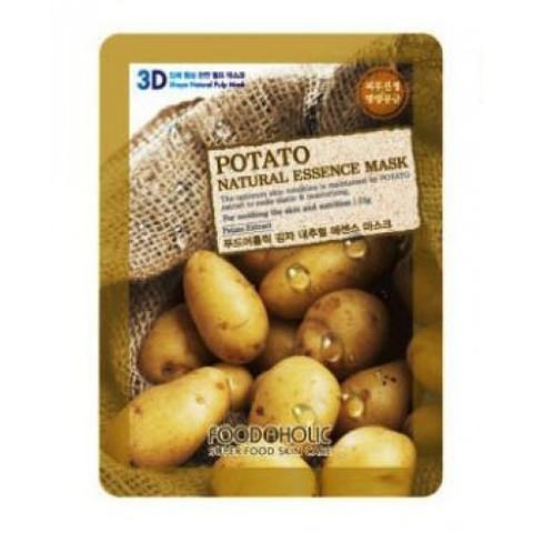 FoodaHolic 3D Маска с натуральным экстрактом картофеля (ткан.) 23г