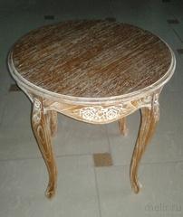 """Чайный столик """"MK-2437-AB"""" с резными ножками —  Античный бежевый"""