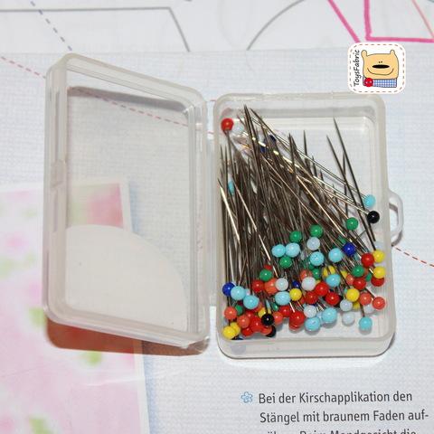 Булавки со стеклянной головкой цветные 36мм (набор 100 шт.)(И9)