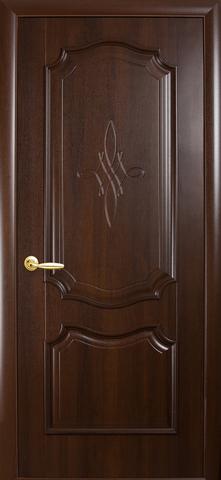 Дверь Рокка ДГ (каштан, глухая ПВХ), фабрика Новый Стиль