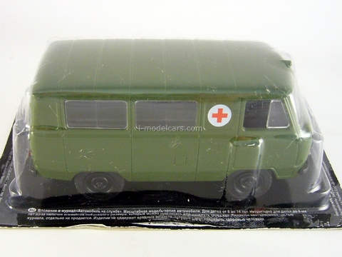 UAZ-450A Military Ambulance USSR 1:43 DeAgostini Service Vehicle #27