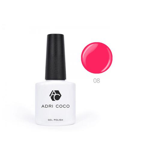 Гель-лак ADRICOCO Pretty dolly №08 неоновый ярко-розовый (8 мл.)