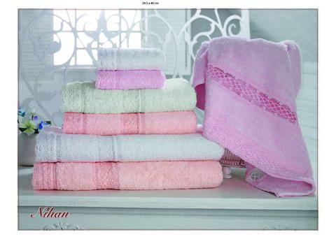 Набор полотенец  NIHAN - НИХАН 3пр 30х50 50х90 и 70х140 Maison Dor (Турция)