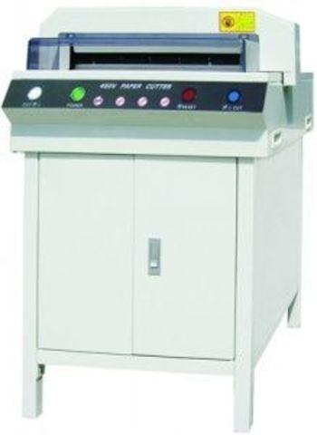 Гильотинный резак Bulros 450Vplus (450V+) - электрический, длина реза 450 мм, высота стопы 450 листов.