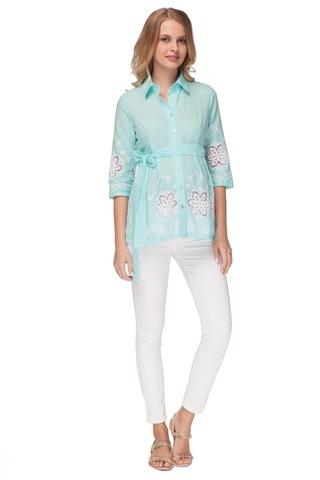 Блузка для беременных и кормящих 07479 зеленый