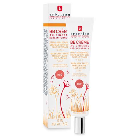 Erborian BB Крем доре с тонирующим эффектом 5 в 1 BB Cream Dore Baby Skin Effect Makeup-Care Face Cream  5 in 1