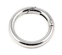 Карабин-кольцо серебро, d 25 мм