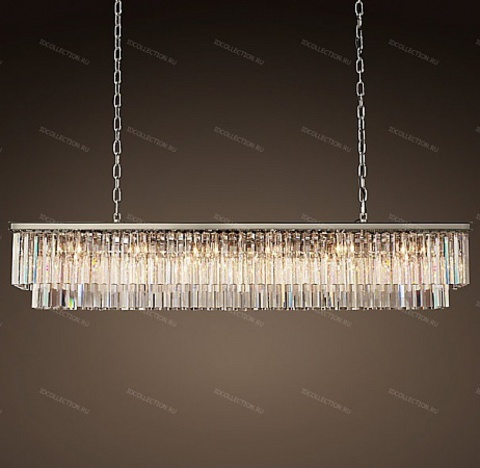 1920S ODEON CLEAR GLASS FRINGE RECTANGULAR Restoration Hardware