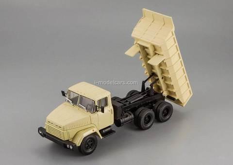 KRAZ-6510 dump truck 1985-1994 beige 1:43 Nash Avtoprom
