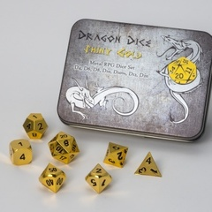 Blackfire Dice Metal Dice Set Gold