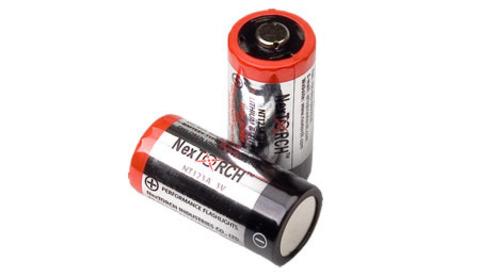 Литиевые батареи CR123A от Nextorch (6 штук)