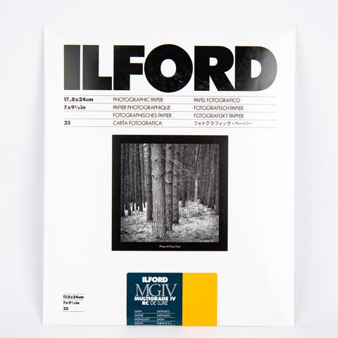 Фотобумага Ilford MG IV RC, 17,8 x 24 см, сатин, 25 листов