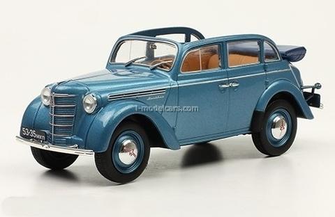Moskvich-400-420A blue 1:24 Legendary Soviet cars Hachette #15