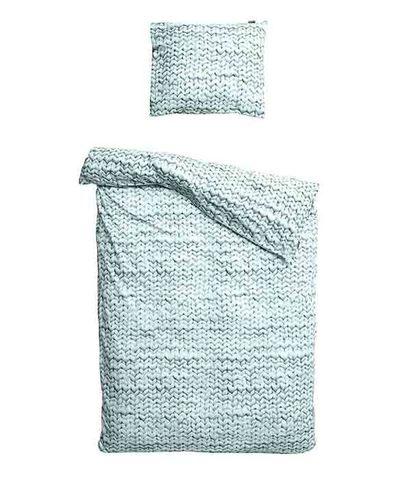 Комплект постельного белья Косичка зеленый фланель 150x200см, Snurk