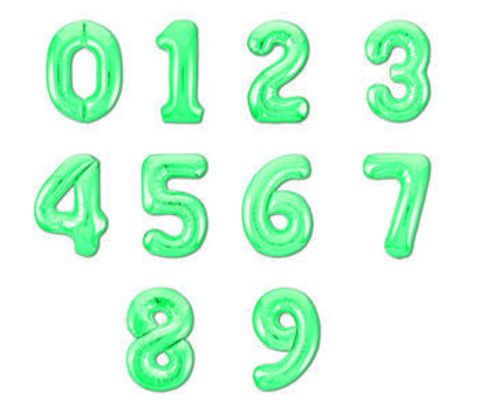 Шар цифра байкальский зеленый