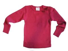 Кофта с длинным  рукавом ManyMonths, Бордовый (шерсть мериноса 100%)