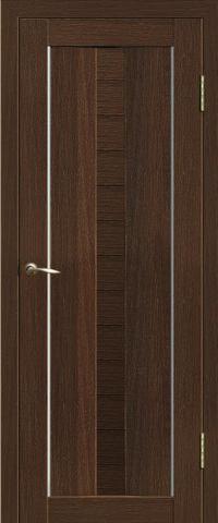 Дверь La Stella 208, стекло матовое, цвет дуб мокко, остекленная