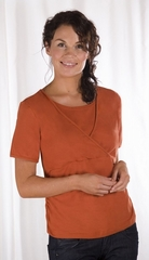 Футболка для кормления с коротким рукавом 'Кай' Кэрривэлл (Carriwell Short Sleeve Feeding T-Sirt 'Kaj') размер L, Оранжевый (95% хлопок, 5% эластан)