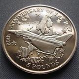 K8744, 1998, Гибралтар, 5 фунтов 100 летие РАФ
