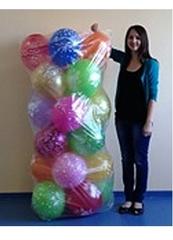 Пакет для транспортировки надутых шаров, прозрачный (0,75*1,7 м)