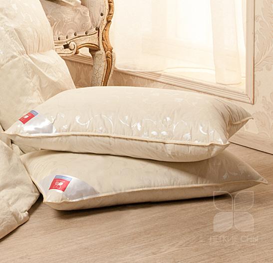 Пуховые Подушка пуховая Коллекция  Камелия пух 1 категории цвет бежевый подушка_камелия.jpg