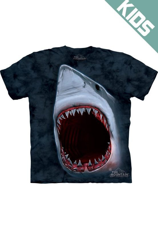 Футболка детская Mountain с изображением удара акулы - Shark Bite