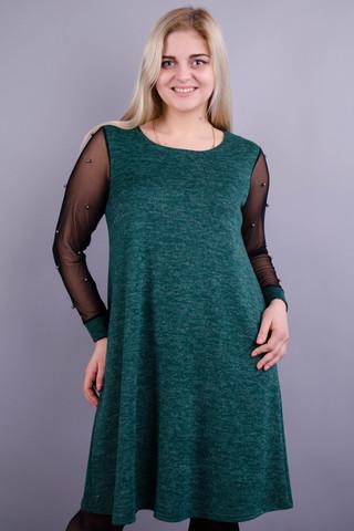 Тала. Гарна жіноча сукня плюс сайз. Смарагд.