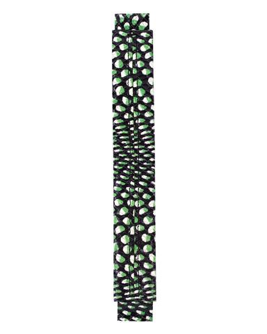 Сменная ручка из кожи с принтом зелено-черной рептилии