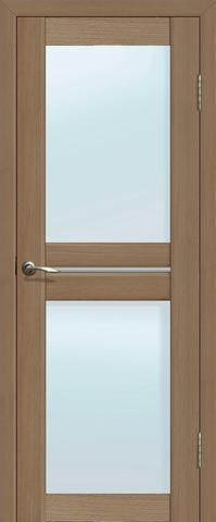 Дверь La Stella 209, стекло матовое, цвет тиковое дерево, остекленная
