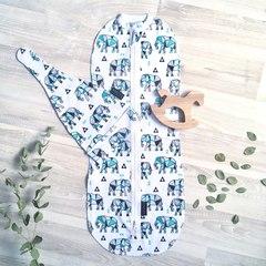MamaPapa. Кокон пеленальный, слоники оригами