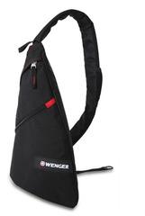 Рюкзак Wenger Sling Bag, с одним плечевым ремнем, черный, 25x15x45 см, 7 л