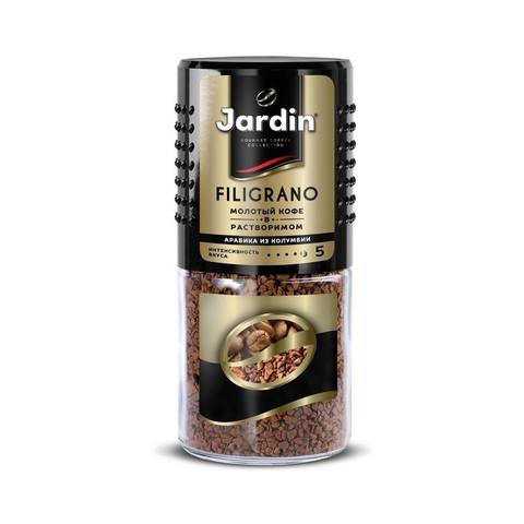 Кофе Jardin Filigrano сублимированный c молотым, 95г стек.бан.