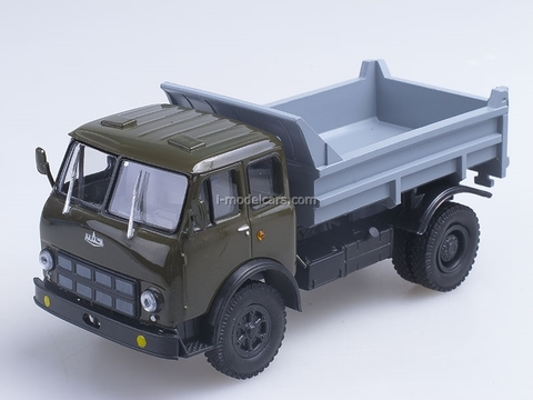MAZ-503A tipper 1975 green-gray 1:43 Nash Avtoprom