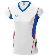 Женская волейбольная футболка Mizuno Premium CapSleeve (V2EA4701M 01) белая
