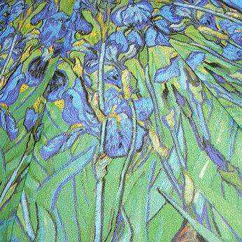 Зонт складной Guy de Jean 6410-17 Les Iris Van Goght
