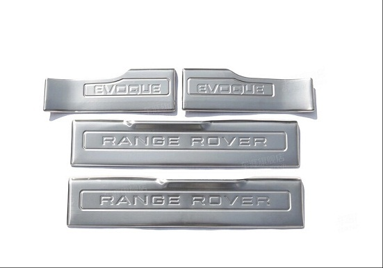 Накладки на внутренние пороги для Land Rover Range Rover Evoque 2015 - silver front air vent grille cover for land rover range rover vogue 2014 2015 2016