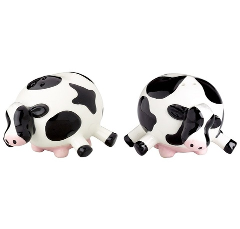 Набор солонка и перечница Boston Warehouse Udderly Cows