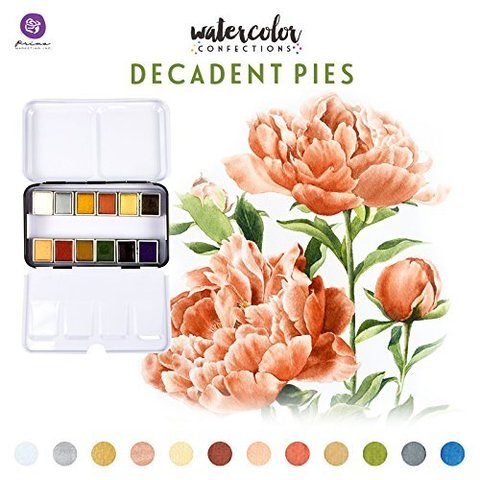 Акварельные краски Prima Marketing Watercolor Confections Watercolor Pans 12шт. -Decadent Pies
