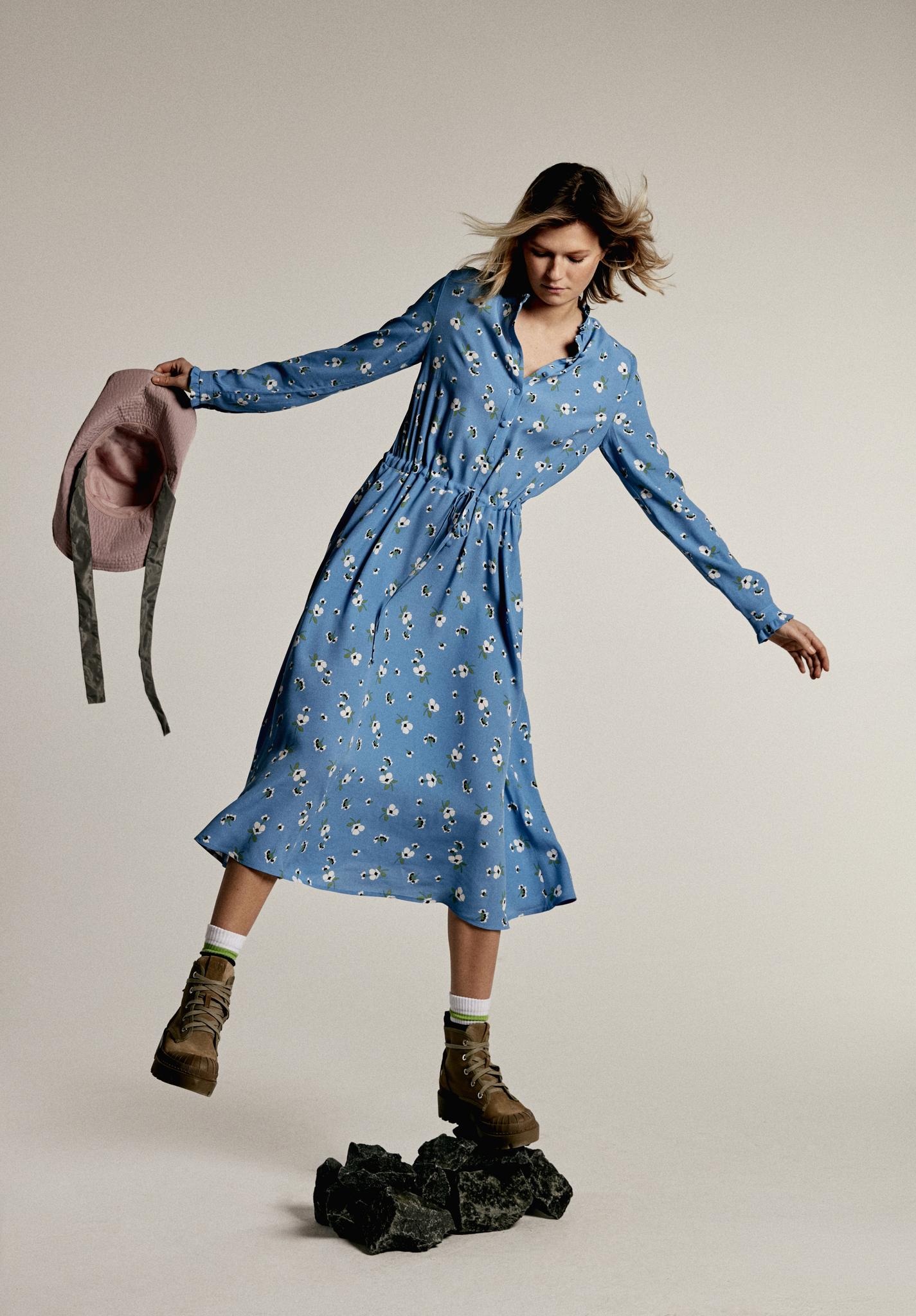 Платье с цветочным паттерном