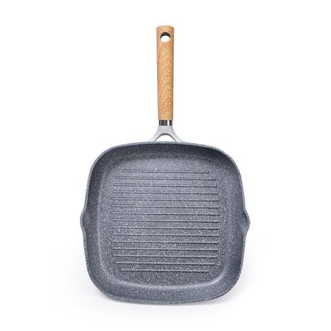 5069 FISSMAN Сковорода-гриль SHADOW BORNEO 28x4,5см Квадратная (алюминий),  купить