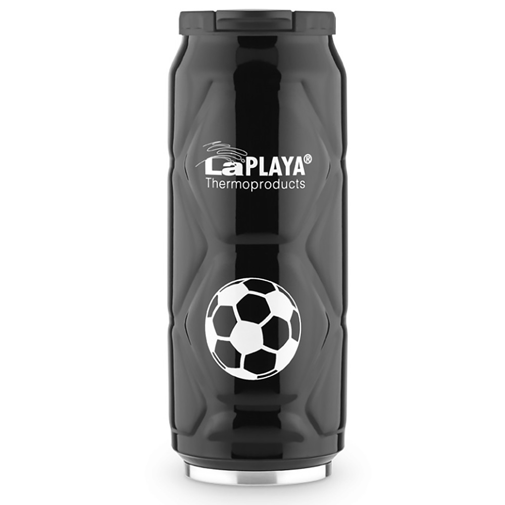 Термокружка La Playa Football Can (0.5 литра) черная